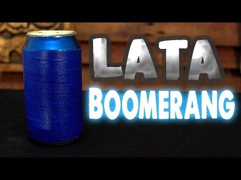 Lata boomerang casera│Energía potencial elástica │ Experimento