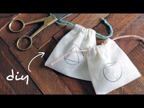 DIY DRAWSTRING BAGS   abetweene