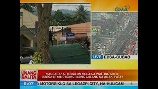 UB: Magsasaka, tumalon mula sa waiting shed; karga niyang isang taong gulan na anak, patay