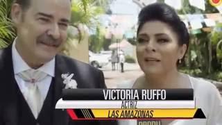"""Victoria Ruffo Cesar Evora En el set de """"Las Amazonas' @victoriaruffo31"""