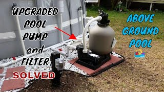 Intex Pool Upgraded Hard Plumb, Pool pump, Sand Filter, and Salt Water Generator