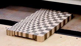 A small custom 3D end grain cutting board #8