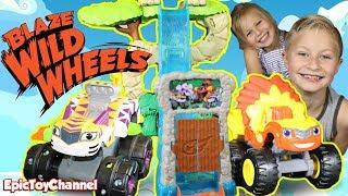 BLAZE WILD WHEELS Nickelodeon Monster Truck Stunts + Lion Blaze from Blaze and the Monster Machines
