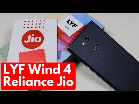 LYF Wind 4 Unboxing & Overview   Reliance Jio Features