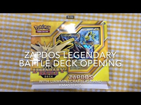 ZAPDOS Legendary Battle Deck opening with Kmaster05