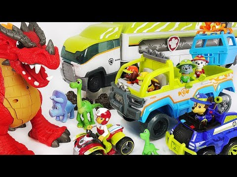Paw Patrol Jungle rescue Terrain vehicle Patroller Save dinosaurs and defeat dragon DuDuPopTOY