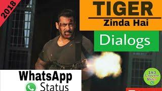 TIGER ZINDA HAI | Powerful Dialogs | Salman Khan | Best Whatsapp Status (2018)