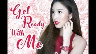 GET READY WITH ME! แต่งหน้า, ทำผม กับลุคสีแดงแรงฤทธิ์