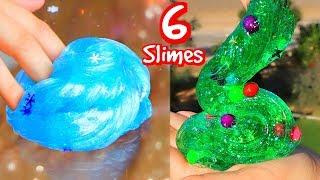 6 DIY Christmas Slimes! How To Holiday Slime!