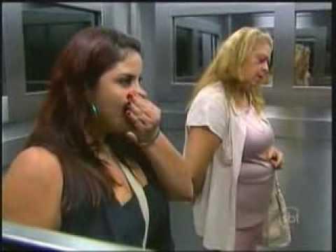 Máscaras de Ar no Elevador Pegadinha INÉDITA Programa Silvio Santos