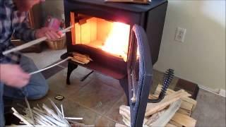 New Wood Burning Stove Lopi Republic 1250 First Burn