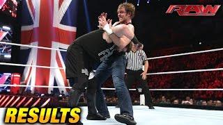 WWE RAW 18 April 2016 RESULTS (4/18/16)