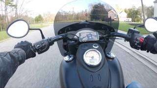 "Indian Chief Dark Horse ""Stage 2 Cams"" Engine Audio ride w/ Hero 5 black"