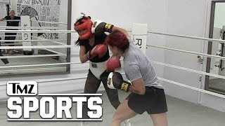 Cris Cyborg & Mia St. John Trade Shots in Boxing Sesh, Prepping for Holly Holm | TMZ Sports