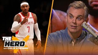 Colin Cowherd warns LeBron James about wanting the Lakers to sign Carmelo Anthony | NBA | THE HERD