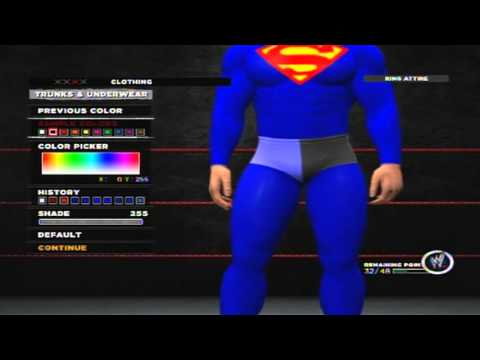 West Coast Caws WWE 13 Superman CAW Tutorial