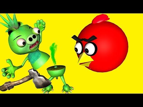 ANGRY BIRDS in DUMB WAYS to DIE 2 ♫ 3D animated movie mashup ☺ FunVideoTV Style ;