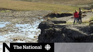 Climate change thawing permafrost in Northern Canada