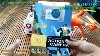 W8 Ultra HD 2 Wifi Sports Camera (White) Unboxing and Drone Test from Lazada