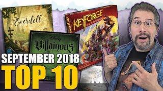 Top 10 hottest board games: September 2018