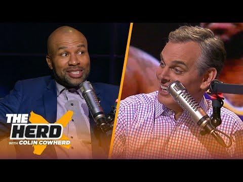 Derek Fisher on Kobe friendship talks Lakers & Steph Curry translating in any era NBA THE HERD