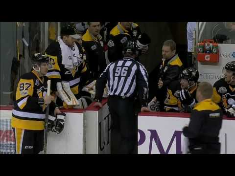 Linesman exits game after taking elbow in the back by Hornqvist