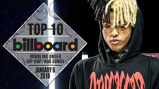Top 10 • US Bubbling Under Hip-Hop/R&B Songs • January 6, 2018   Billboard-Charts
