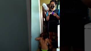 natalia  black mask facial gets cream pie