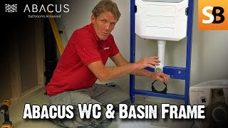 Wall Hung WC Toilet & Basin - Abacus Frame Installation
