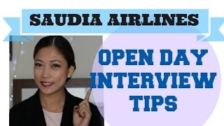 SAUDIA Airlines Open Day Interview Tips
