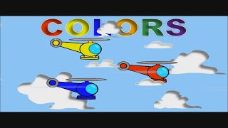 Learn Colors with Helicopters - Videos for Kids