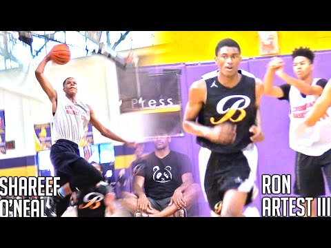 Shareef O Neal VS Ron Artest III Sons of Shaq & Metta World Peace Face Off
