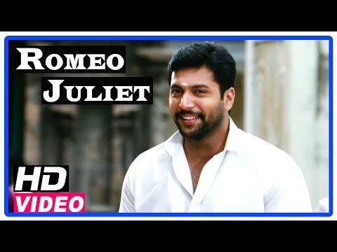 Romeo Juliet Tamil Movie | Scenes | Jayam Ravi meets Hansika at temple