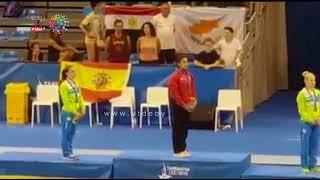 848x480 فيديو   لحظة تتويج نانسى طمان بذهبية طاولة القفز بـألعاب البحر المتوسط   اليوم السابع