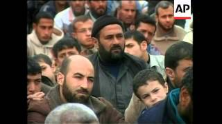 Palestinians hold Friday prayers in ruins of mosques