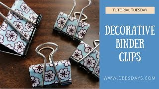 How to Make Easy DIY Decorative Binder Clips with Fabric