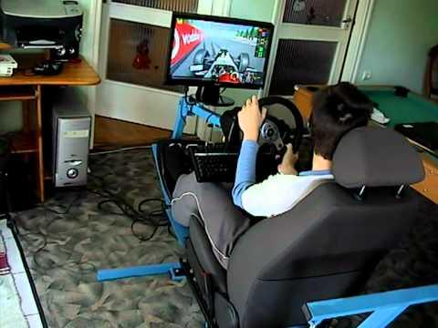 Pneumatic cockpit simulator rFactor