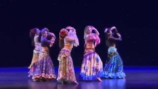 Gypsy Belly Dance - Mirian Caberlon & Students performing at the 2016 Mid Winter Hafla