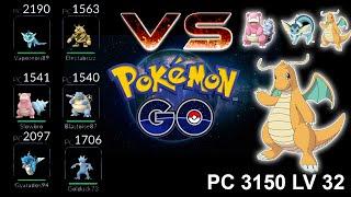 Pokemon GO Duelos 16   Episodio Especial, Ataque contra DRAGONITE LV 32