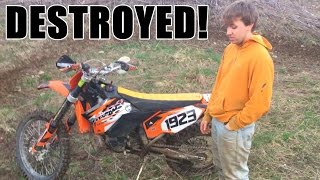 FIRST TIME BLOWING UP 300 DIRT BIKE!