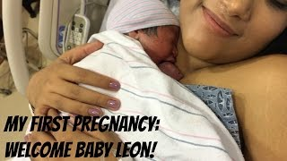 BIRTH VLOG - GETTING INDUCED AND GIVING BIRTH TO MY BABY! MY FIRST PREGNANCY!