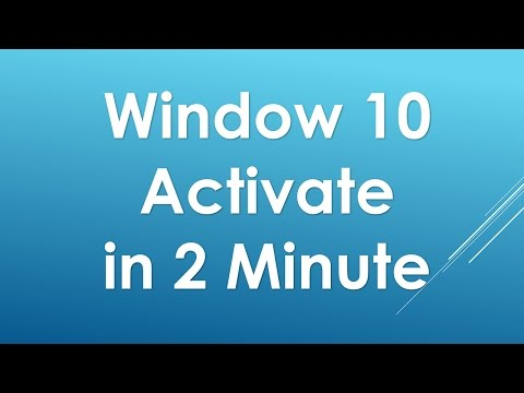Activate windows 10 pro/enterprise/home permanently for free all edition 2017