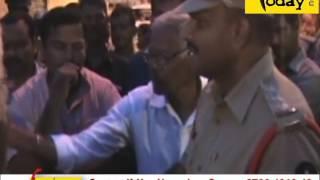 BJP MLA  RAJA SING PROTEST AGAINST POLICE