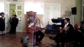 Yitzchak fuchs in switzerland motzei shabbos, singing Ana b'koach from his new album