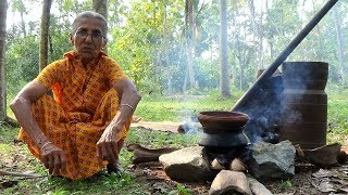 Primitive Technology Cooking - Making Healthy Rice in my Village by Grandma