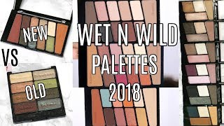 NEW WET N WILD EYESHADOW PALETTES 2018 || SWATCHES & COMPARISON