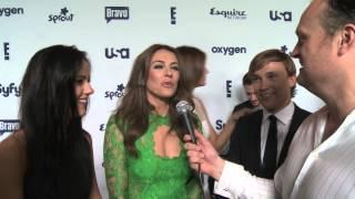 Liz Hurley talks The Royals with the awkward Brad Blanks