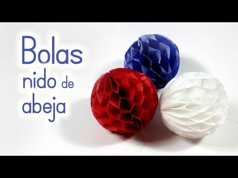 Manualidades BOLAS pompones de Nido de Abeja para DECORAR Innova Manualidades