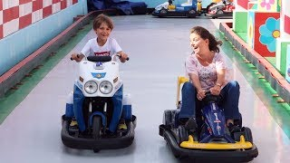 Family Fun Bumper Cars and Bikes Kids Rides by Adults