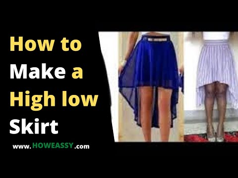 how to make a high low skirt